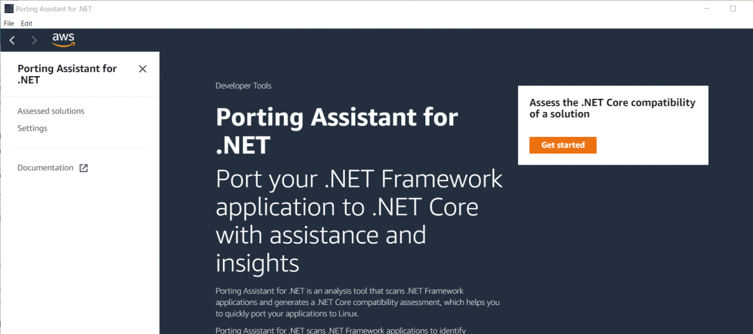 Porting Assistant for .NET を使ってみた
