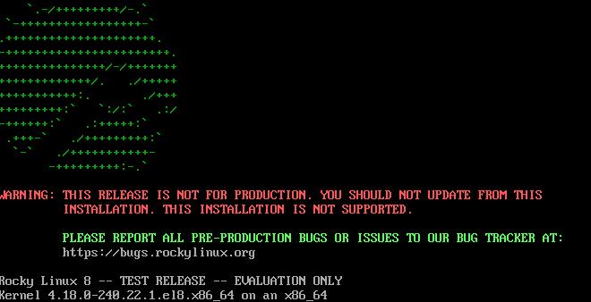 RockyLinuxをisoからインストールと、CentOS8からのコンバート